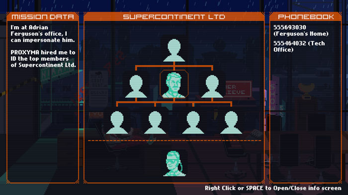 Supercontinent Ltd, cyberpunk adventure game