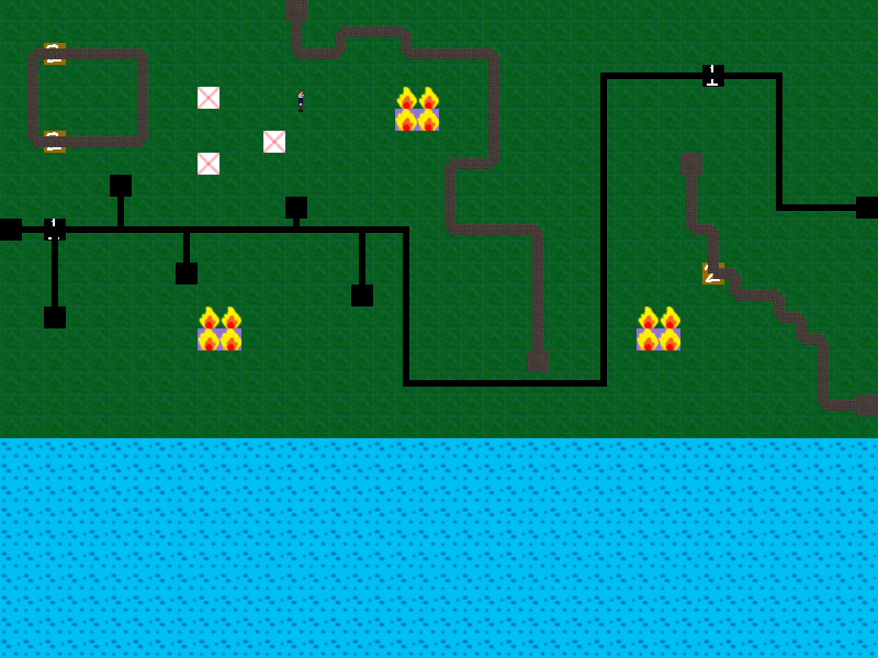 Screenshot from an unfinished game